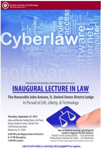 Melbourne Family Law, Palm Bay Divorce Attorney, Cyberlaw Lecture 2012